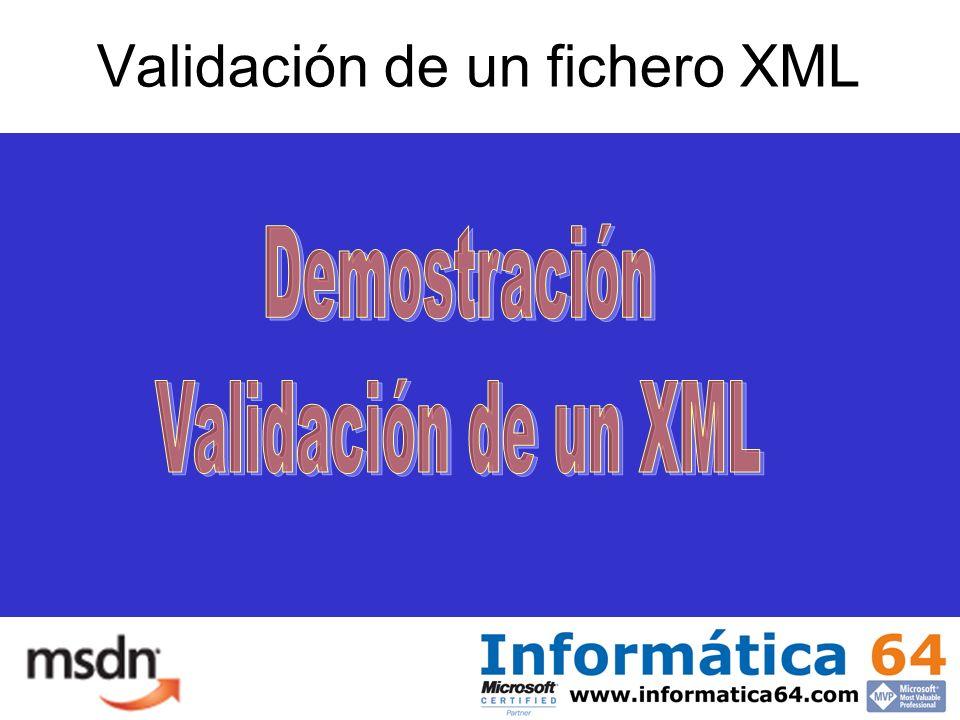 Validación de un fichero XML
