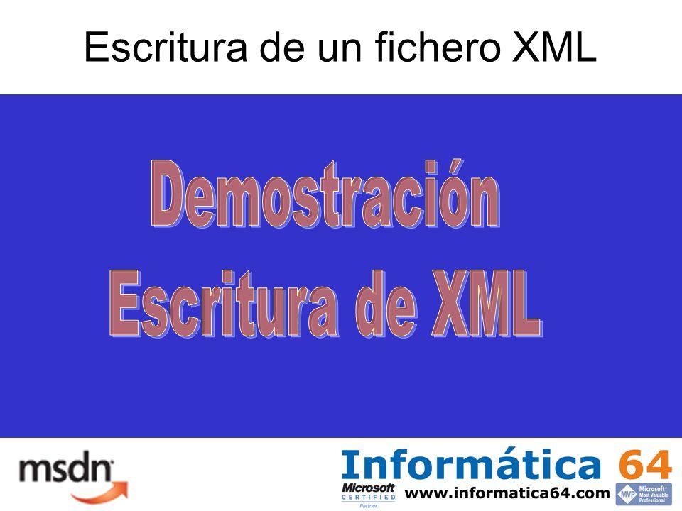Escritura de un fichero XML