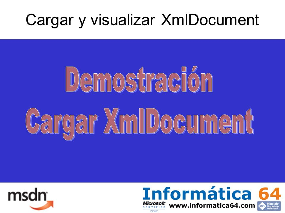 Cargar y visualizar XmlDocument