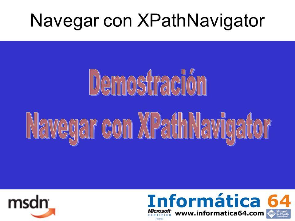 Navegar con XPathNavigator