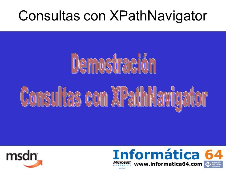 Consultas con XPathNavigator