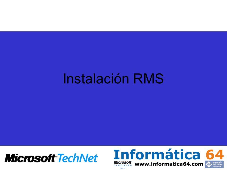 Instalación RMS