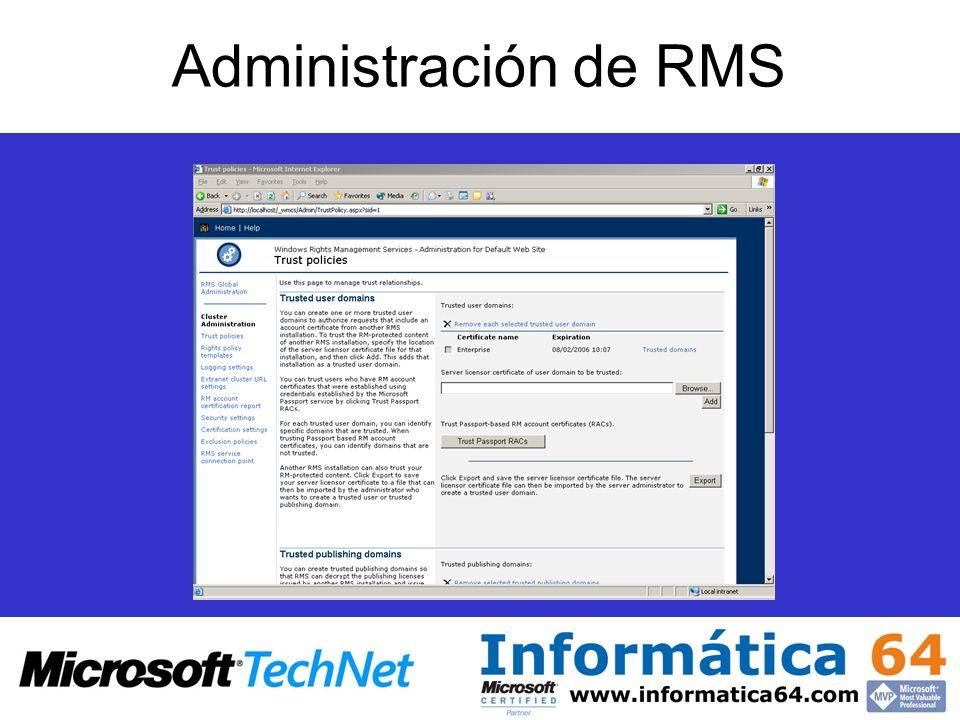 Administración de RMS