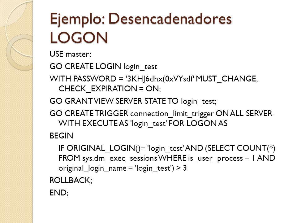 Diferencias entre desencadenadores DML y DDL Los desencadenadores DDL y DML se utilizan con finalidades distintas.