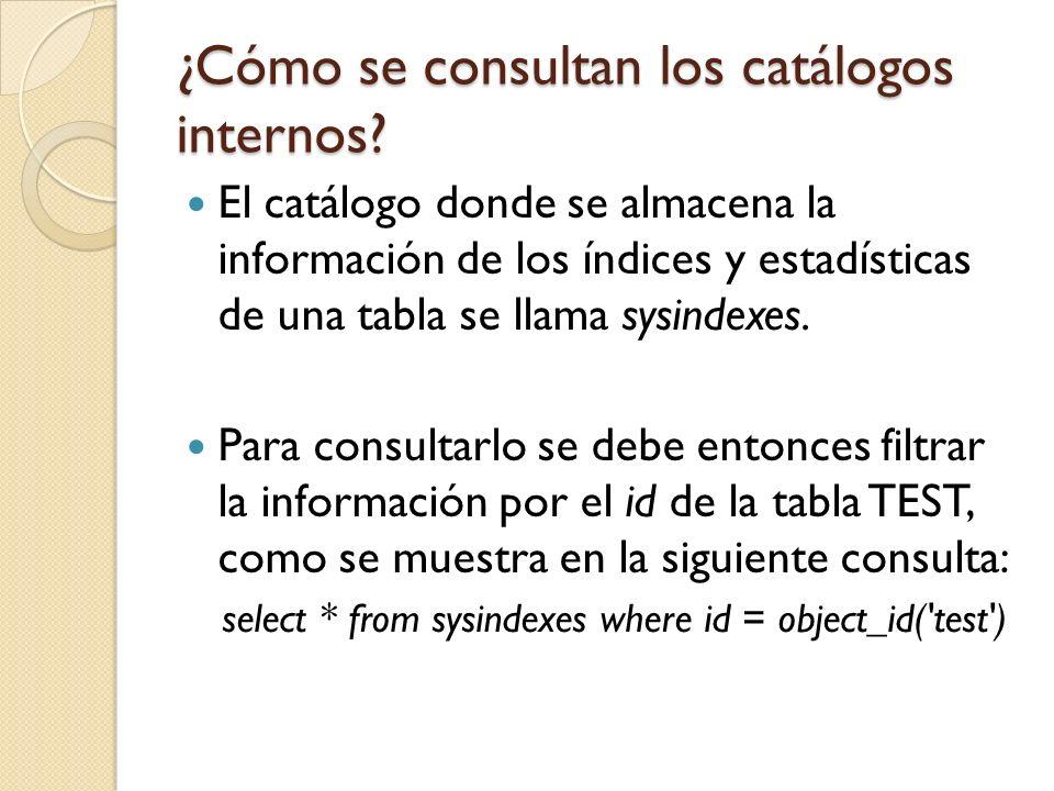¿Cómo se consultan los catálogos internos.