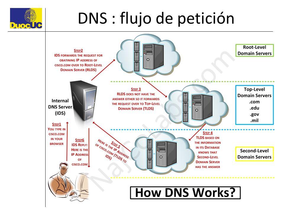 DNS : flujo de petición