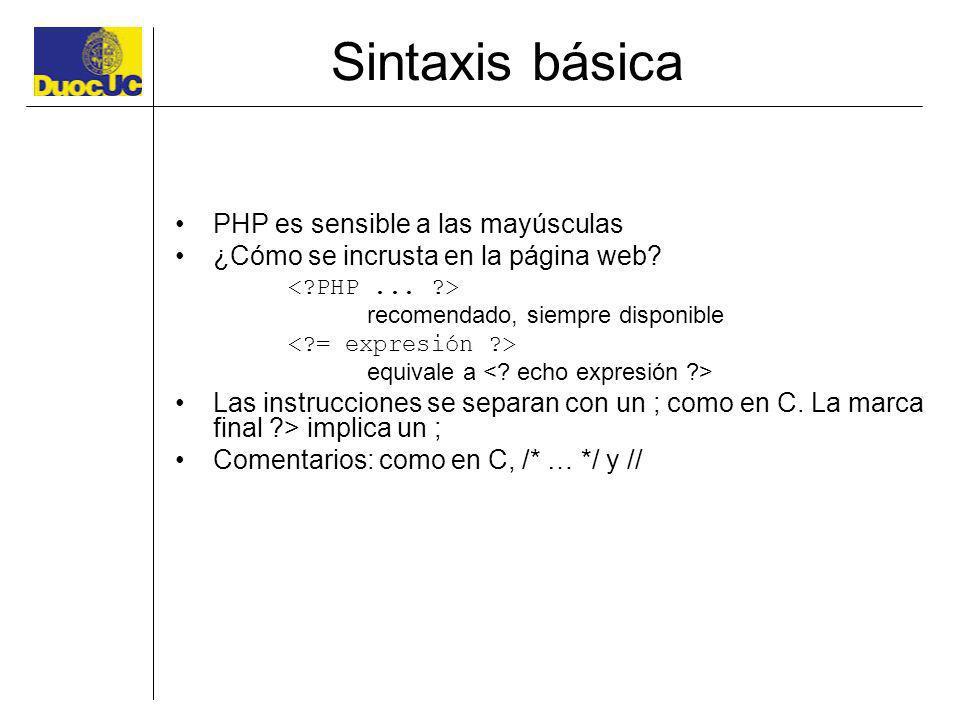 Sintaxis básica PHP es sensible a las mayúsculas ¿Cómo se incrusta en la página web? recomendado, siempre disponible equivale a Las instrucciones se s