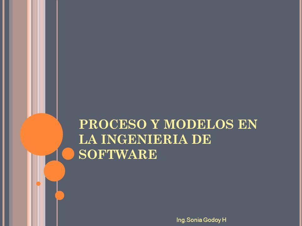 En el proceso de construcción de sistemas informáticos se pueden distinguir tres fases genéricas DEFINICIONDESARROLLOMANTENIMIENTO Ing.Sonia Godoy H