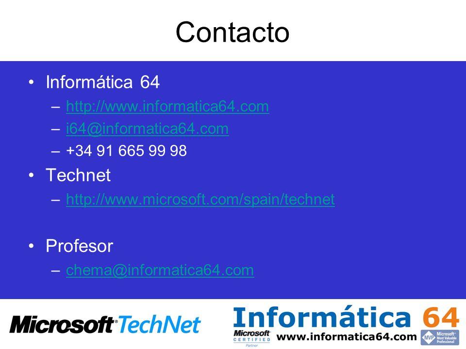Contacto Informática 64 –http://www.informatica64.comhttp://www.informatica64.com –i64@informatica64.comi64@informatica64.com –+34 91 665 99 98 Techne