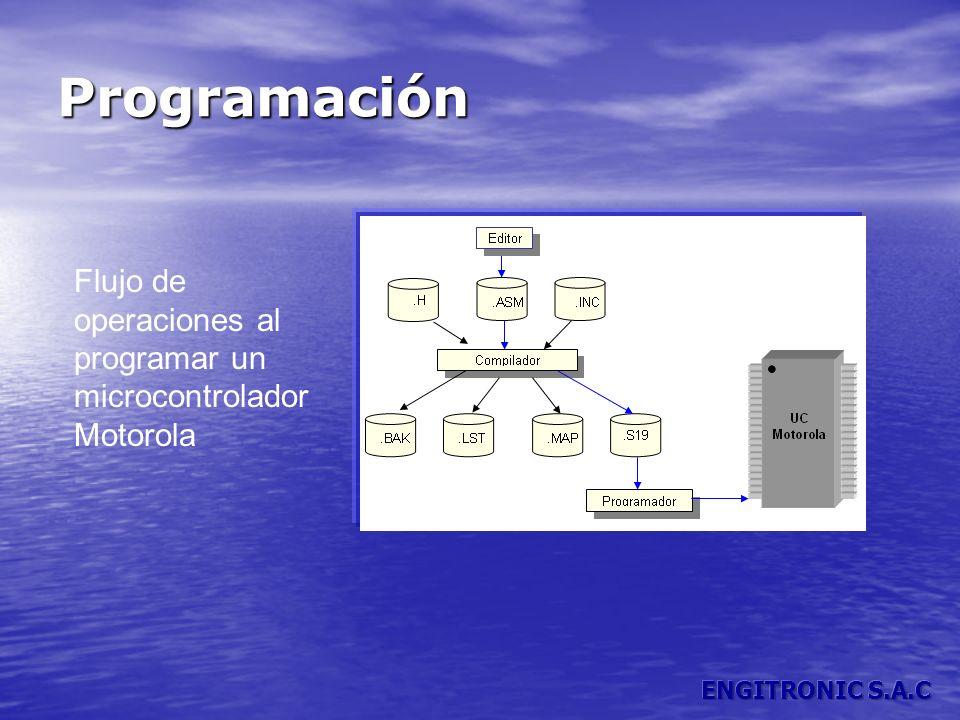 Programación Flujo de operaciones al programar un microcontrolador Motorola