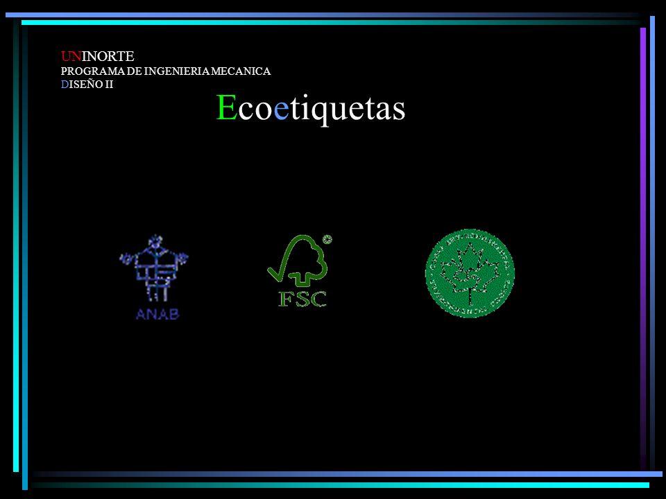 Ecoetiquetas UNINORTE PROGRAMA DE INGENIERIA MECANICA DISEÑO II