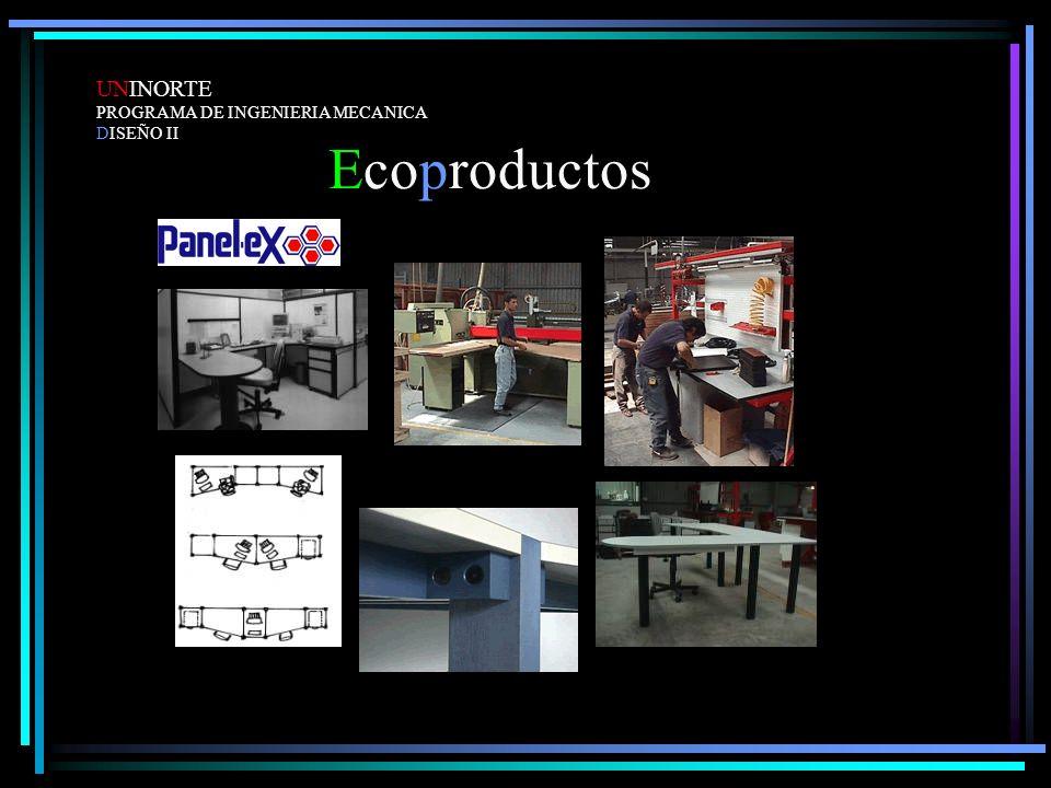 Ecoproductos UNINORTE PROGRAMA DE INGENIERIA MECANICA DISEÑO II