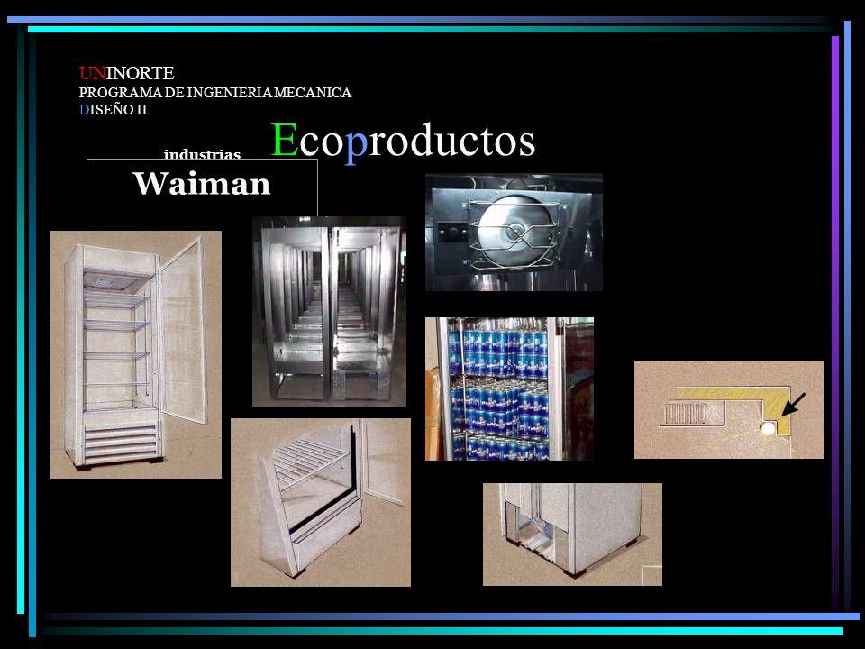 Ecoproductos UNINORTE PROGRAMA DE INGENIERIA MECANICA DISEÑO II industrias Waiman