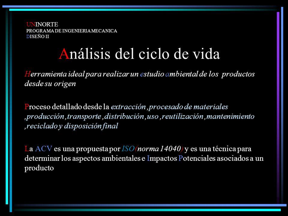 Análisis del ciclo de vida Herramienta ideal para realizar un estudio ambiental de los productos desde su origen Proceso detallado desde la extracción
