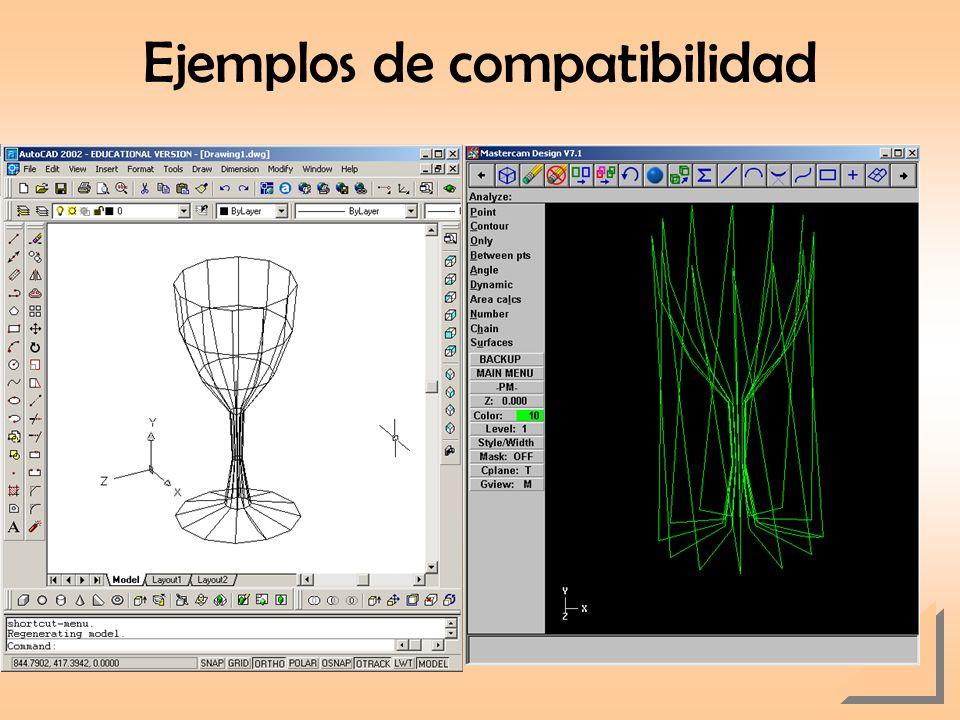 Ejemplos de compatibilidad AutoCAD Malla MasterCAM
