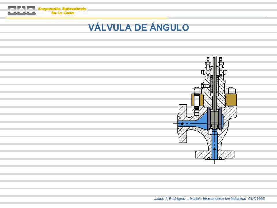 Jaime J. Rodríguez – Módulo Instrumentación Industrial CUC 2005 VÁLVULA DE ÁNGULO