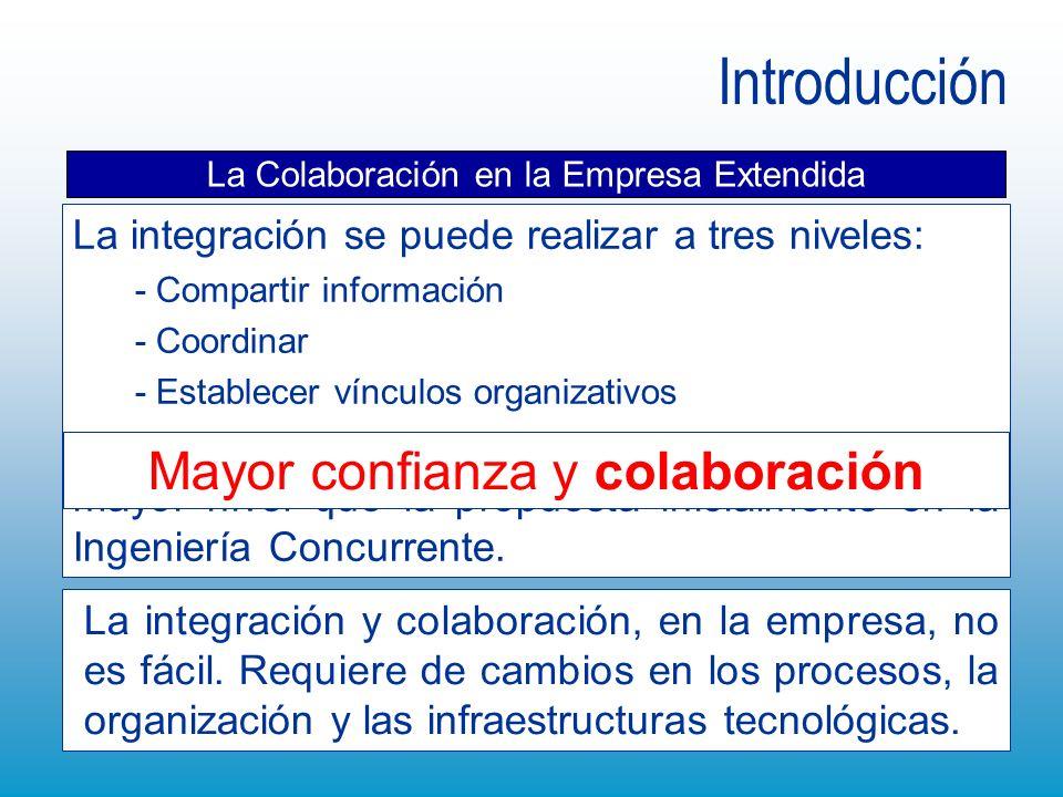 Introducción La integración se puede realizar a tres niveles: - Compartir información - Coordinar - Establecer vínculos organizativos La colaboración