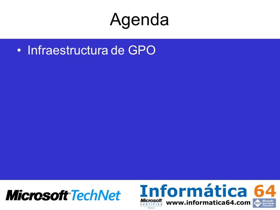 Agenda Infraestructura de GPO