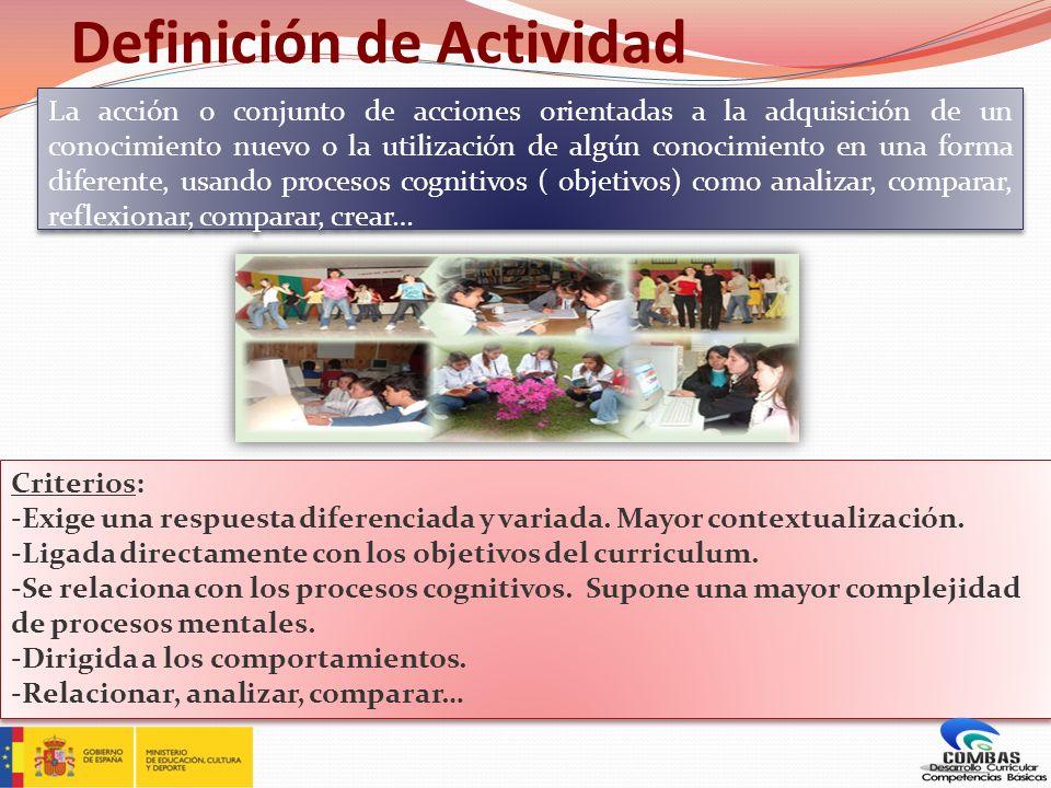 Definición de Tarea La acción o conjunto de acciones orientadas a la resolución de una situación-problema, dentro de un contexto definido, mediante la combinación de todos los saberes disponibles que permitirán la elaboración de un producto relevante.