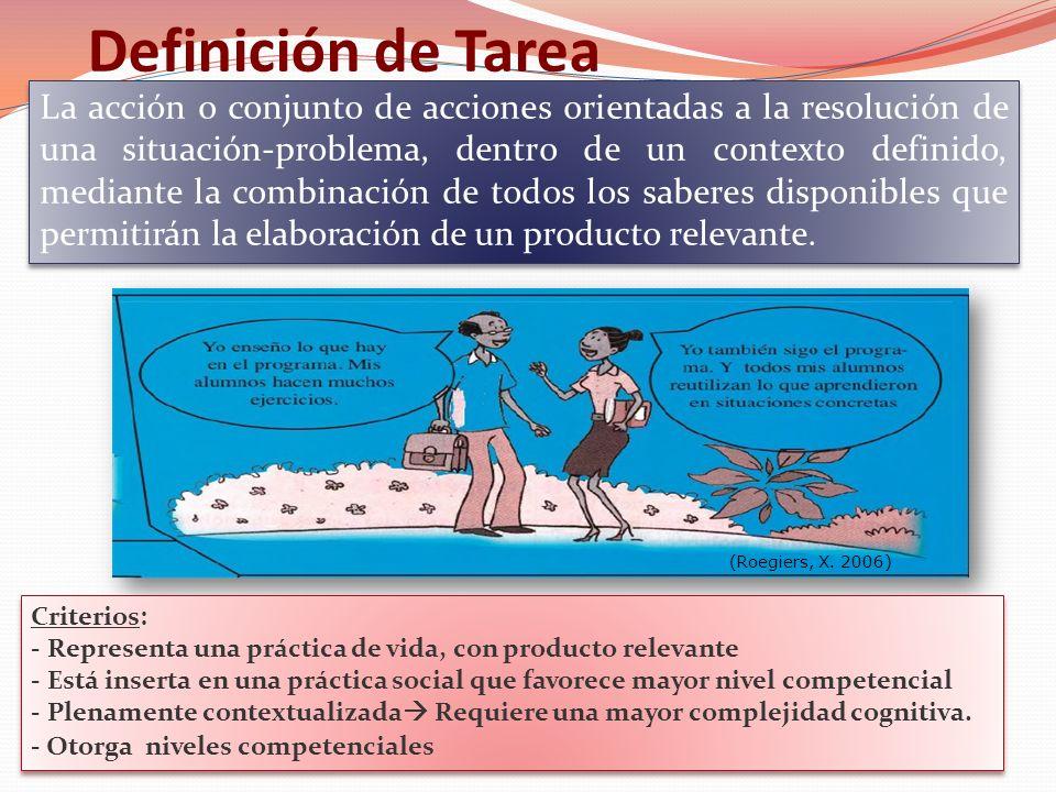 La tarea sencilla: un ejemplo (Roegiers, X. 2006)