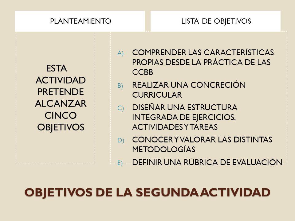 OBJETIVOS DE LA SEGUNDA ACTIVIDAD PLANTEAMIENTOLISTA DE OBJETIVOS ESTA ACTIVIDAD PRETENDE ALCANZAR CINCO OBJETIVOS A) COMPRENDER LAS CARACTERÍSTICAS P