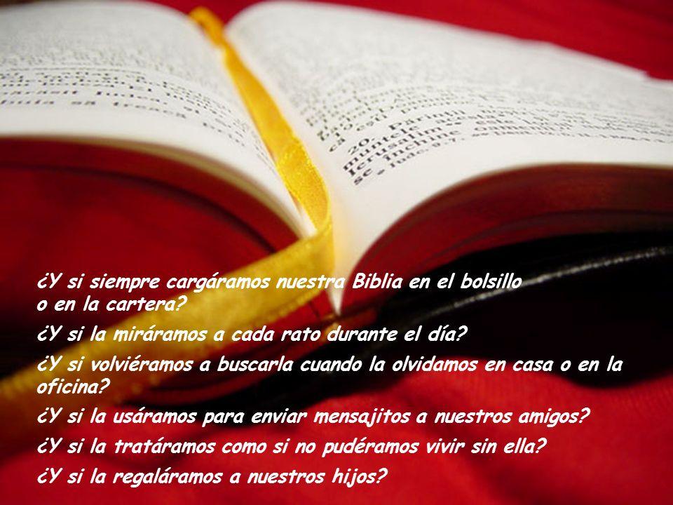 ¿Y si siempre cargáramos nuestra Biblia en el bolsillo o en la cartera.