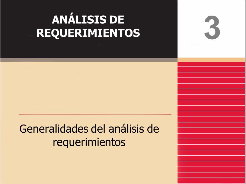 ANÁLISIS DE REQUERIMIENTOS Generalidades del análisis de requerimientos 3