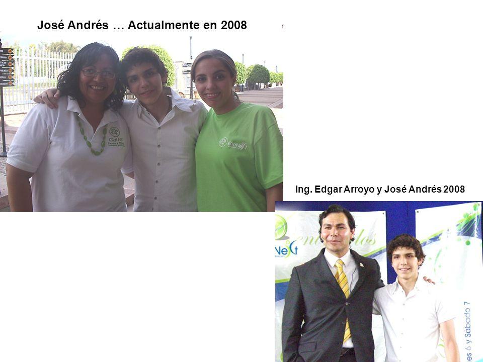 José Andrés … Actualmente en 2008 Ing. Edgar Arroyo y José Andrés 2008