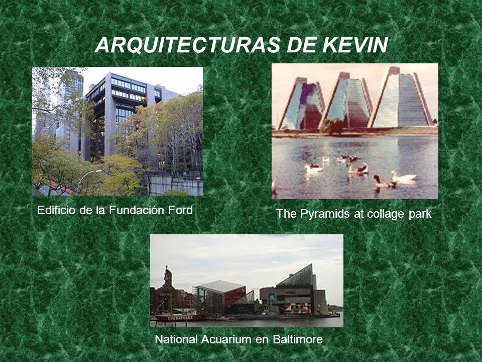 ARQUITECTURAS DE KEVIN Edificio de la Fundación Ford The Pyramids at collage park National Acuarium en Baltimore