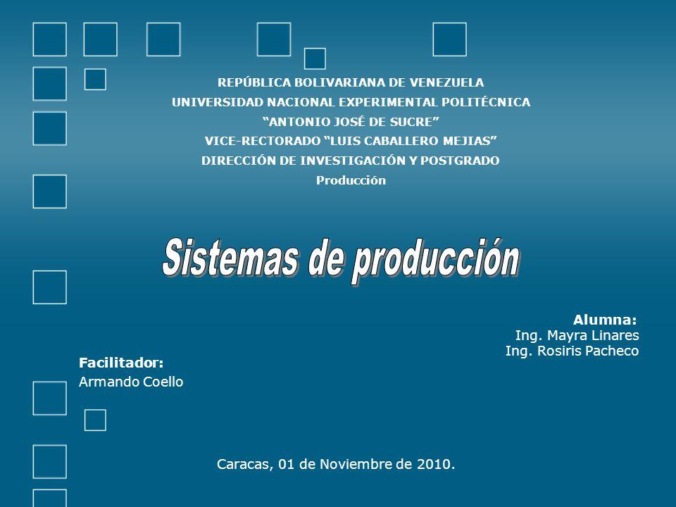 Alumna: Ing. Mayra Linares Ing. Rosiris Pacheco Facilitador: Armando Coello Caracas, 01 de Noviembre de 2010. REPÚBLICA BOLIVARIANA DE VENEZUELA UNIVE