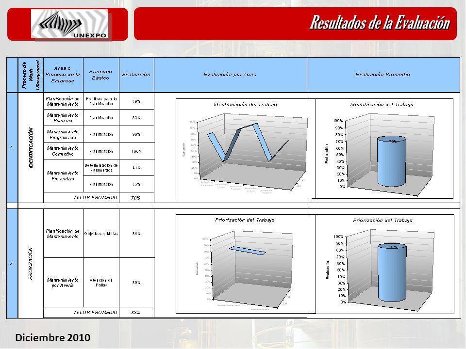 Diciembre 2010 Resultados de la Evaluación