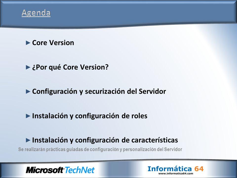 Existe una gran variedad de métodos para la administración y configuración del servidor tras la instalación Remotamente usando MMC.