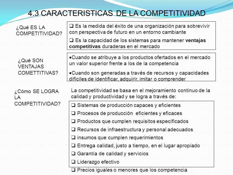 Sistemas de producción capaces y eficientes Procesos de producción eficientes y eficaces Productos que cumplen requisitos especificados Recursos de in