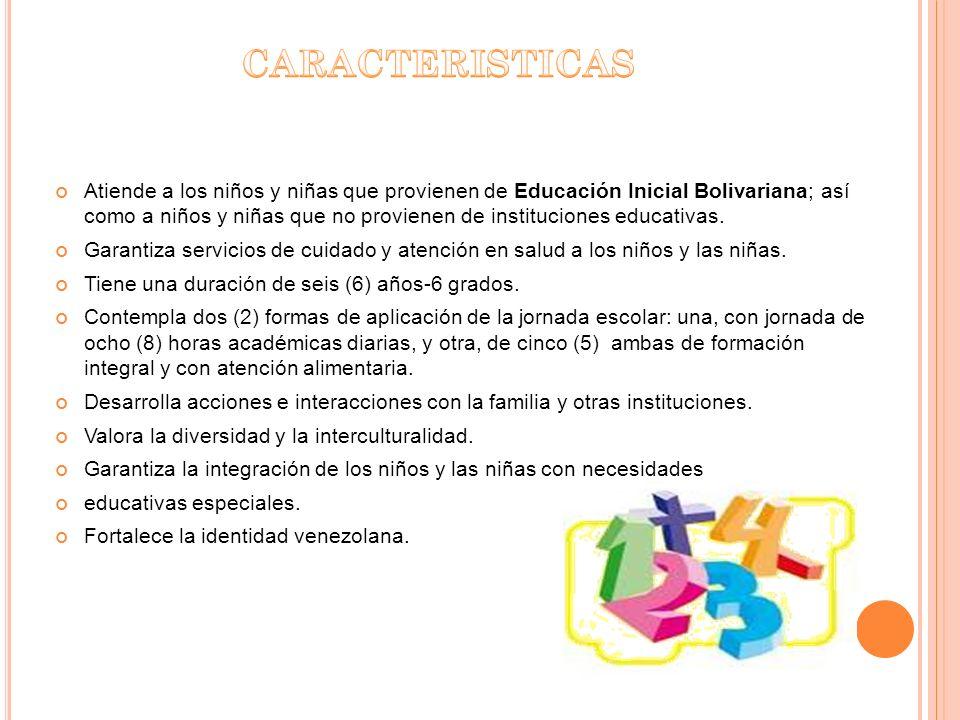 Atiende a los niños y niñas que provienen de Educación Inicial Bolivariana; así como a niños y niñas que no provienen de instituciones educativas. Gar