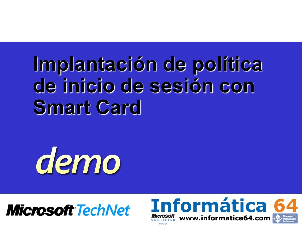 Implantación de política de inicio de sesión con Smart Card