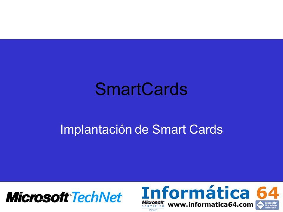 SmartCards Implantación de Smart Cards