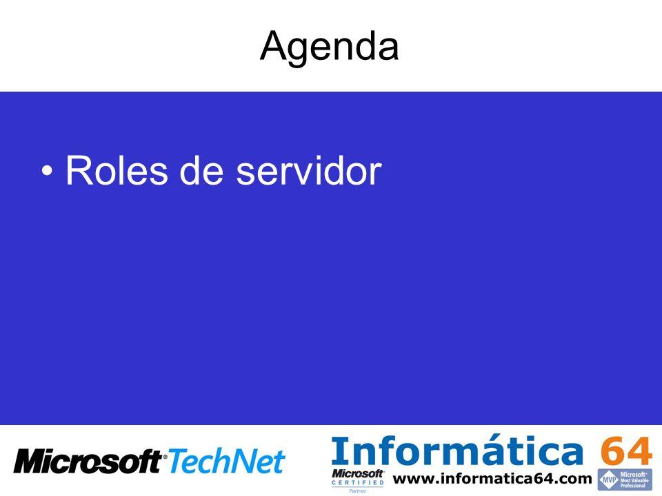Agenda Roles de servidor