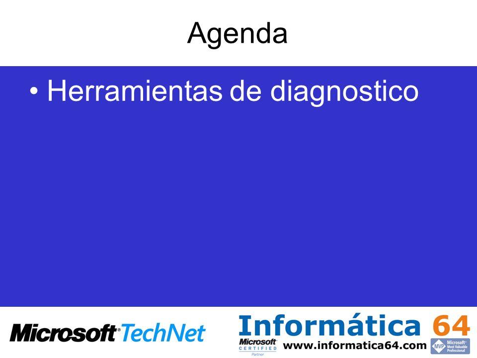 Agenda Herramientas de diagnostico