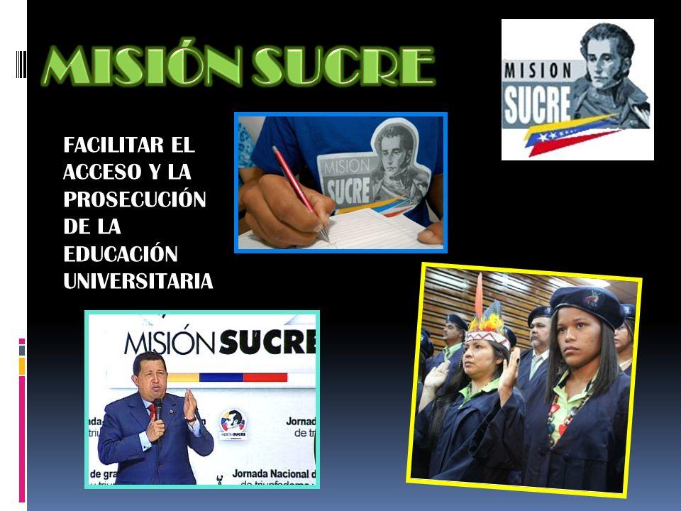 FACILITAR EL ACCESO Y LA PROSECUCIÓN DE LA EDUCACIÓN UNIVERSITARIA