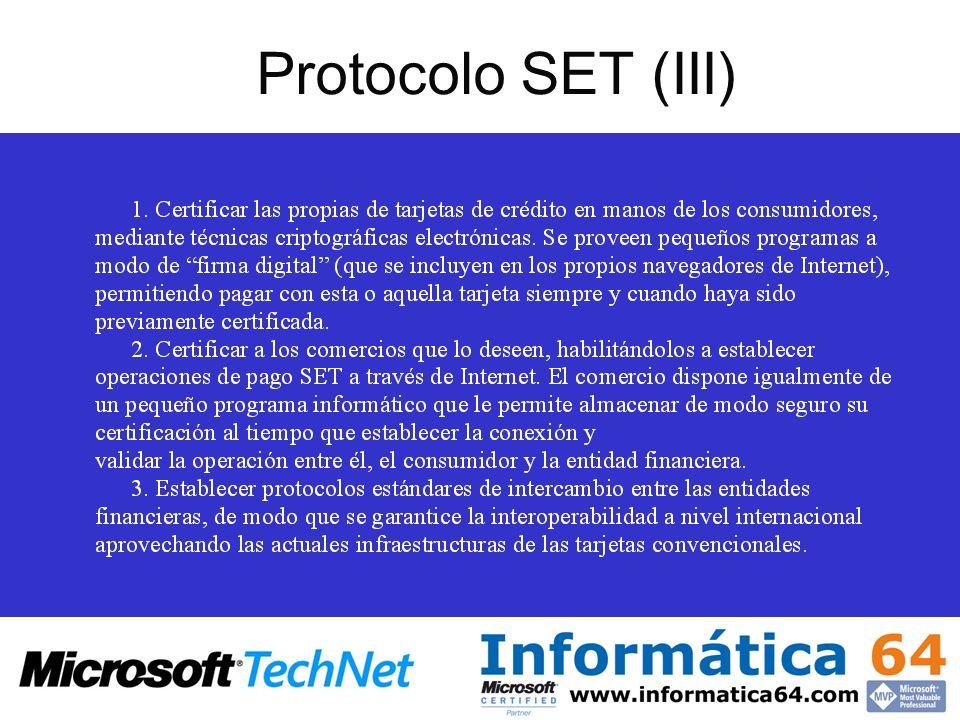 Protocolo SET (III)