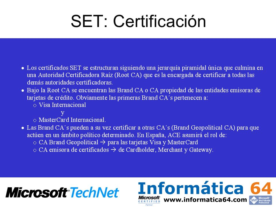 SET: Certificación