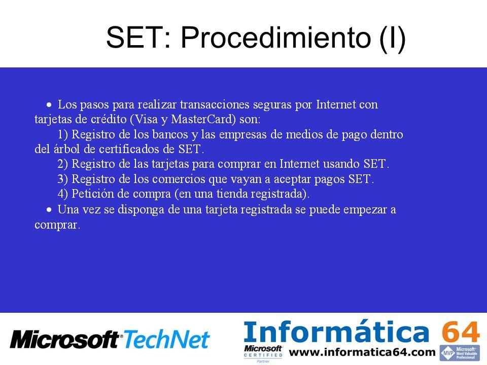 SET: Procedimiento (I)