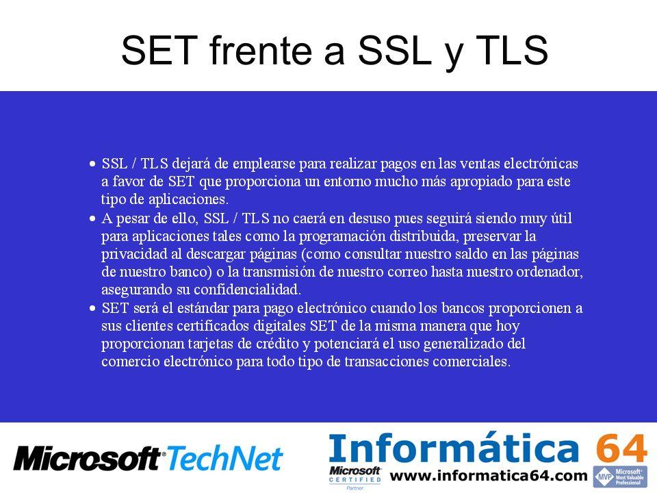 SET frente a SSL y TLS