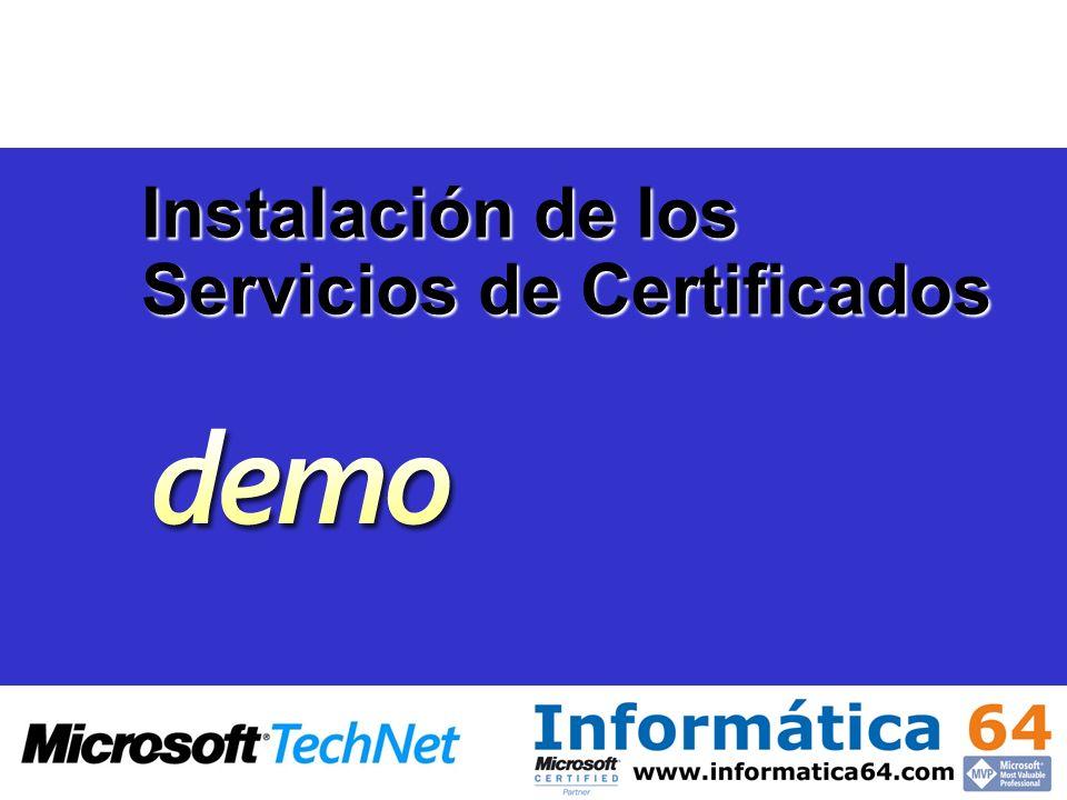 Instalación de los Servicios de Certificados