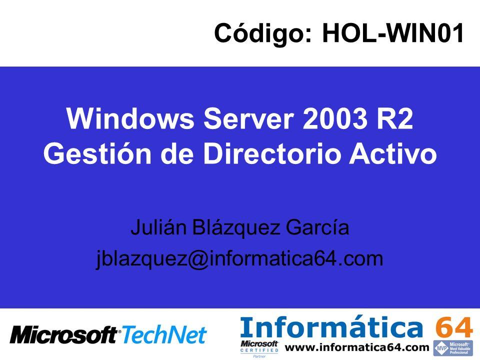 Cualquier DC puede tomar el rol de Catálogo Global El servidor de GC se usa para facilitar consultas en entornos multidominio Es recomendable, en entornos multidominio, disponer de un servidor de GC en cada site Catálogo Global (III)