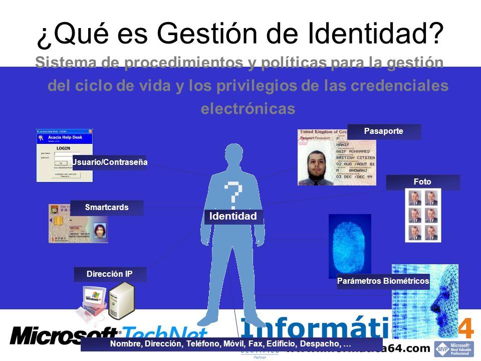 ¿Qué es Gestión de Identidad? Sistema de procedimientos y políticas para la gestión del ciclo de vida y los privilegios de las credenciales electrónic