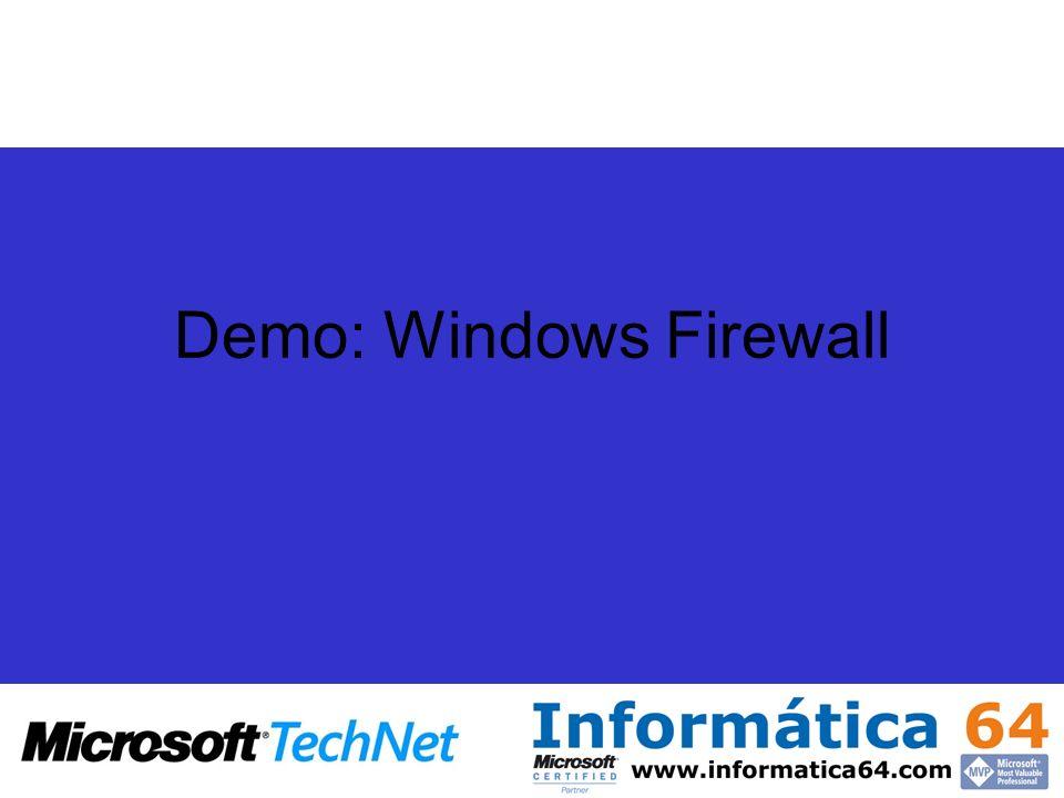 Demo: Windows Firewall