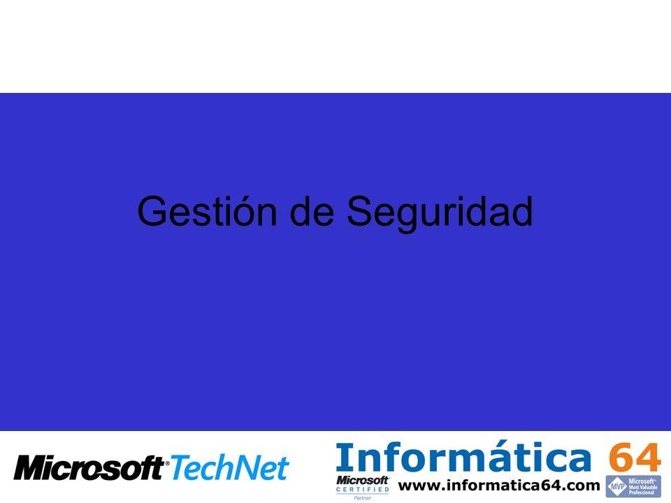 Metas de Windows Server 2003 SP1 Actualizaciones del producto Mejoras en las Tecnologías de Seguridad Prevenir contra: Acceso innecesario o no solicitado a las aplicaciones y el sistema operativo.