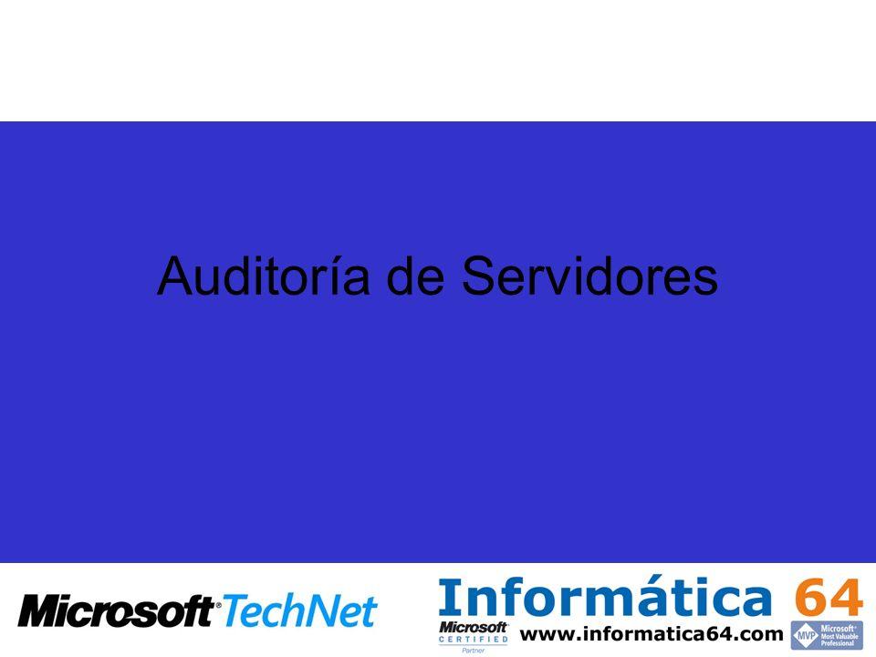 Auditoría de Servidores