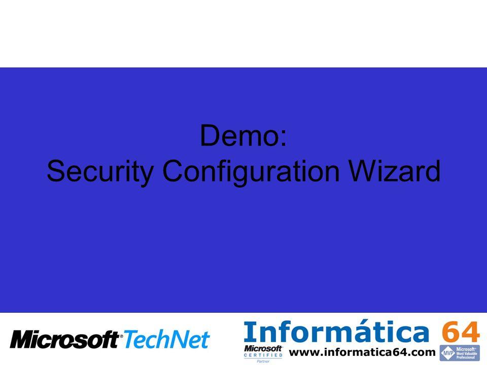 Demo: Security Configuration Wizard